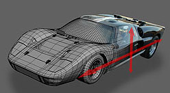 Picture GT40 Chassis Specs Measured